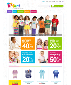 PrestaShop e-shop šablona na téma Rodina č. 47522