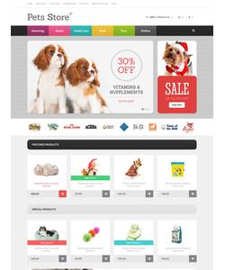 OpenCart e-shop šablona na téma Zvířata č. 47776