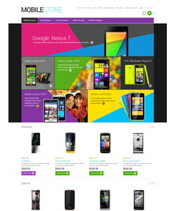 OpenCart e-shop šablona na téma Elektronika č. 47921