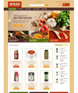 PrestaShop e-shop šablona na téma Jídlo a pití č. 48038