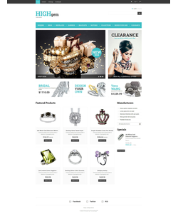 PrestaShop e-shop šablona na téma Šperky č. 48270