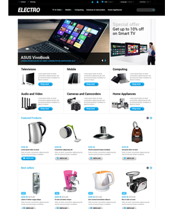 PrestaShop e-shop šablona na téma Elektronika č. 48286
