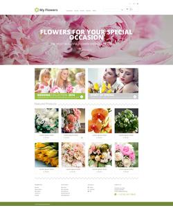 PrestaShop e-shop šablona na téma Květiny č. 48318