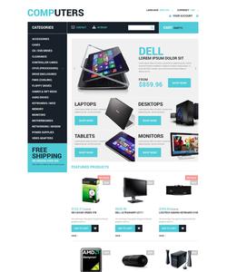 PrestaShop e-shop šablona na téma Počítače č. 48566