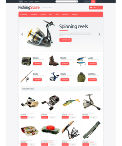 PrestaShop e-shop šablona na téma Sport č. 48636