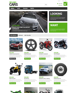 PrestaShop e-shop šablona na téma Auta č. 48752