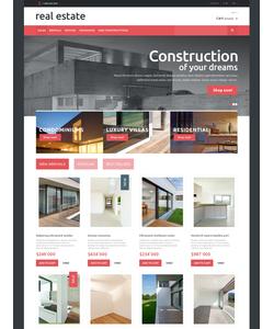 PrestaShop e-shop šablona na téma Nemovitosti č. 48895