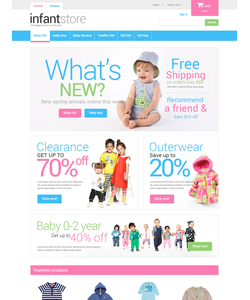 PrestaShop e-shop šablona na téma Rodina č. 49001