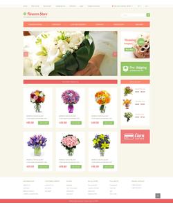 OpenCart e-shop šablona na téma Květiny č. 49087