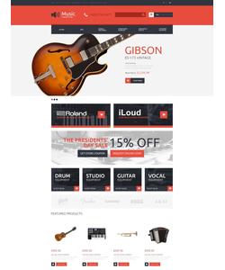 OpenCart e-shop šablona na téma Hudba č. 49093