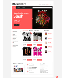 PrestaShop e-shop šablona na téma Hudba č. 49375