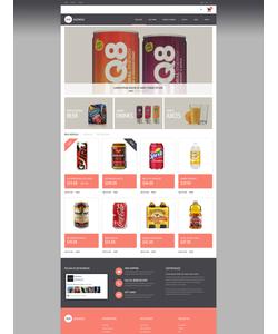 PrestaShop e-shop šablona na téma Jídlo a pití č. 49508