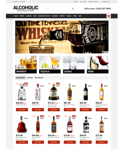 PrestaShop e-shop šablona na téma Jídlo a pití č. 50670