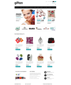 PrestaShop e-shop šablona na téma Dárky č. 50942