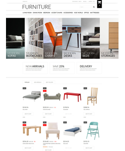 PrestaShop e-shop šablona na téma Interiér a nábytek č. 51386