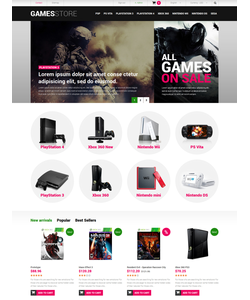 PrestaShop e-shop šablona na téma Hry č. 52518