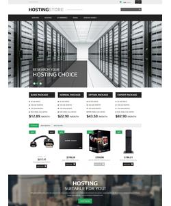 PrestaShop e-shop šablona na téma Hosting č. 52866