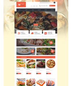 PrestaShop e-shop šablona na téma Jídlo a pití č. 52927