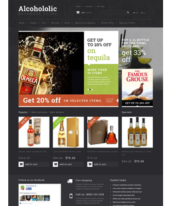 PrestaShop e-shop šablona na téma Jídlo a pití č. 53034