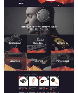 PrestaShop e-shop šablona na téma Hudba č. 53403