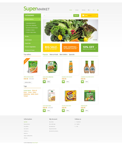 PrestaShop e-shop šablona na téma Jídlo a pití č. 54022