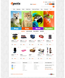 PrestaShop e-shop šablona na téma Zvířata č. 54028