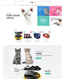 PrestaShop e-shop šablona na téma Zvířata č. 58981