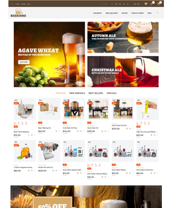 PrestaShop e-shop šablona na téma Pivovar č. 61411