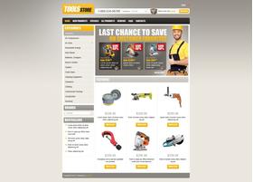 Zen Cart e-shop šablona na téma Nástroje a vybavení č. 43707