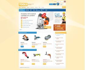 Zen Cart e-shop šablona na téma Nástroje a vybavení č. 42367