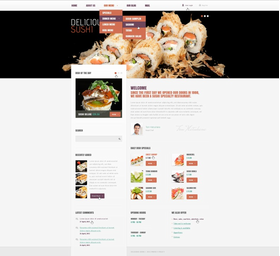 Drupal šablona na téma Café a restaurace č. 39086