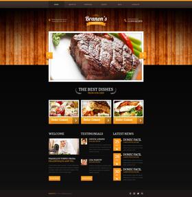 Moto CMS HTML šablona na téma Café a restaurace č. 47824