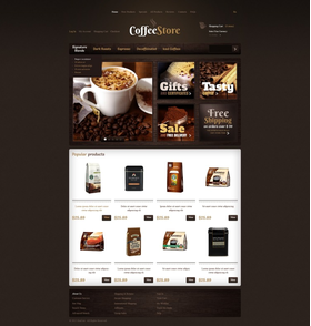 Zen Cart e-shop šablona na téma Café a restaurace č. 40176