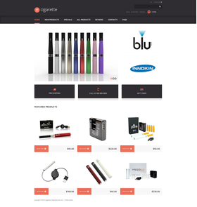 Zen Cart e-shop šablona na téma Tabák č. 48135