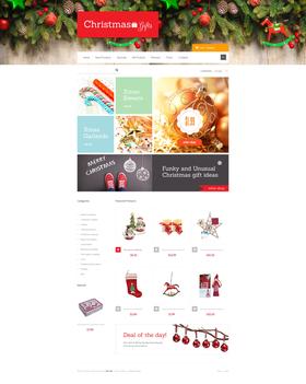 Zen Cart e-shop šablona na téma Vánoce č. 47453