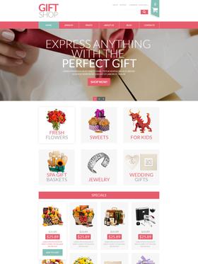 VirtueMart e-shop šablona na téma Dárky č. 52823