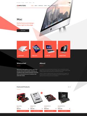 WooCommerce e-shop šablona na téma Software č. 57763