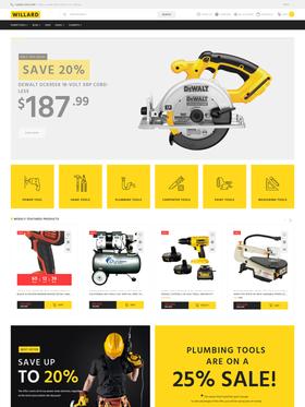 WooCommerce e-shop šablona na téma Nástroje a vybavení č. 58679
