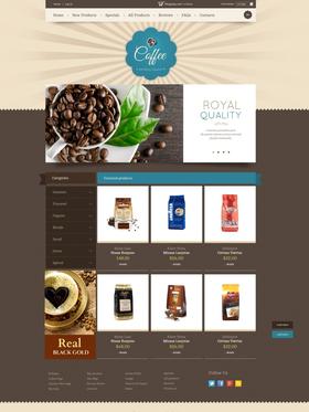 Zen Cart e-shop šablona na téma Café a restaurace č. 44944
