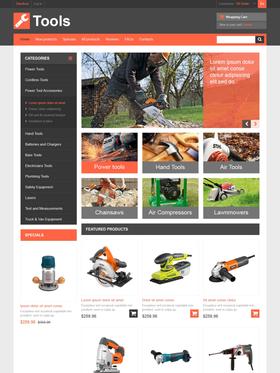 Zen Cart e-shop šablona na téma Nástroje a vybavení č. 46686