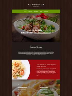 WordPress šablona na téma Café a restaurace č. 55761