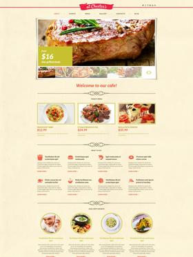 WordPress šablona na téma Café a restaurace č. 48549