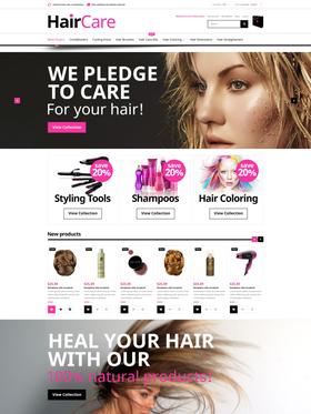 Magento e-shop šablona na téma Krása č. 52276