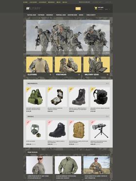 Magento e-shop šablona na téma Vojenské č. 54551