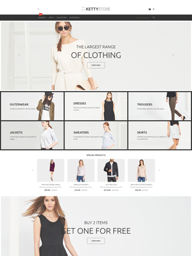 Magento e-shop šablona na téma Móda č. 55943