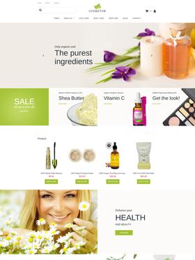 Moto CMS e-shop šablona na téma Krása č. 59521