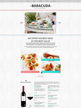 Moto CMS HTML šablona na téma Café a restaurace č. 47823