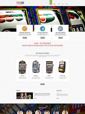 Moto CMS HTML šablona na téma Kasino online č. 52789