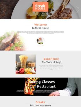 Moto CMS HTML šablona na téma Café a restaurace č. 53234