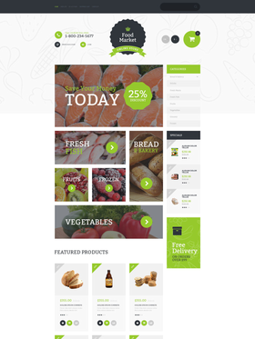 OpenCart e-shop šablona na téma Jídlo a pití č. 55608